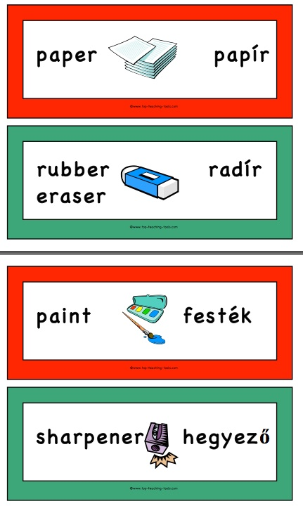 Hungarian teaching resources top teaching tools contains 36 different vocabulary cards showing the hungarian and english words 250 ideal for using as flash cards for m4hsunfo